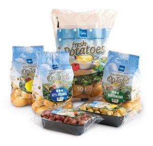 Aardappelen Op Tafel in grootverpakking