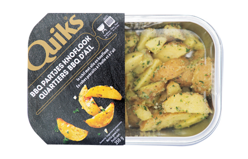 Aardappelpartjes in schil knoflook - Quik's