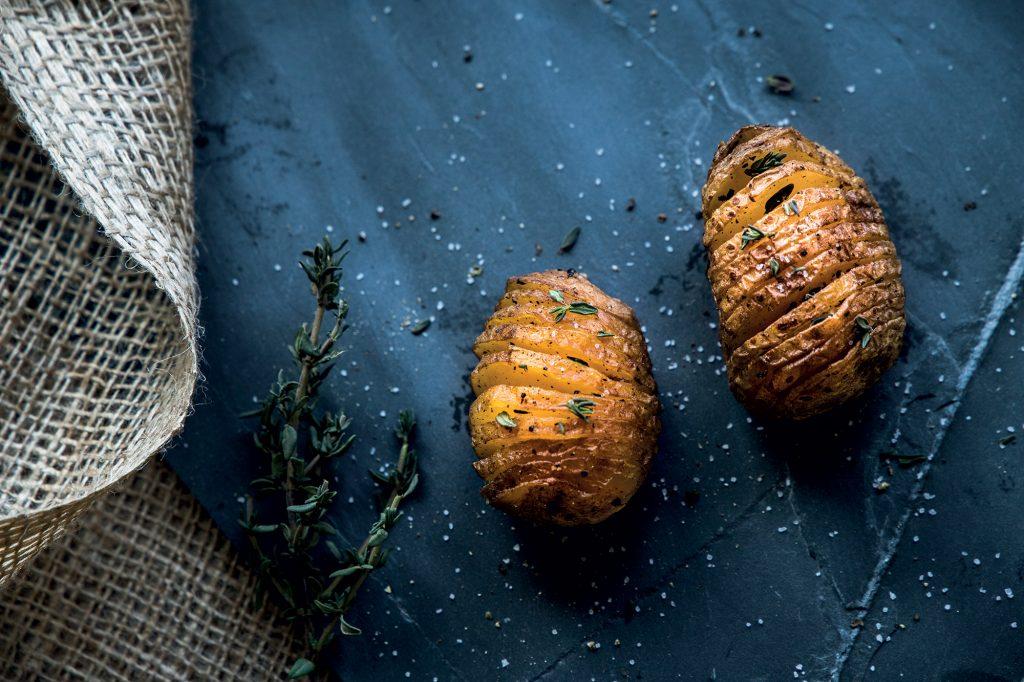 Unieke aardappel Hasselback van Quik's